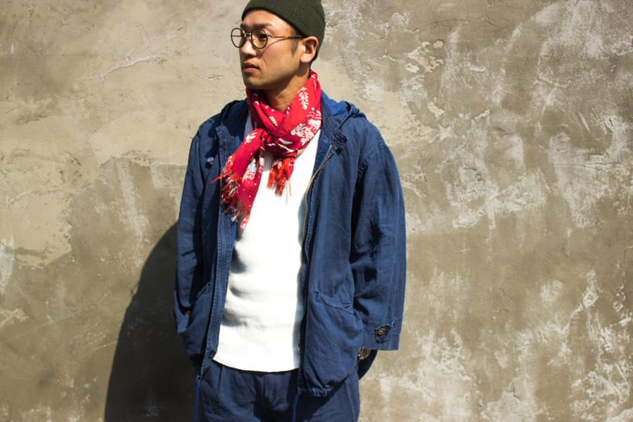 "『Porter Classic』""LINEN COATING COAT WITH HOOD"""
