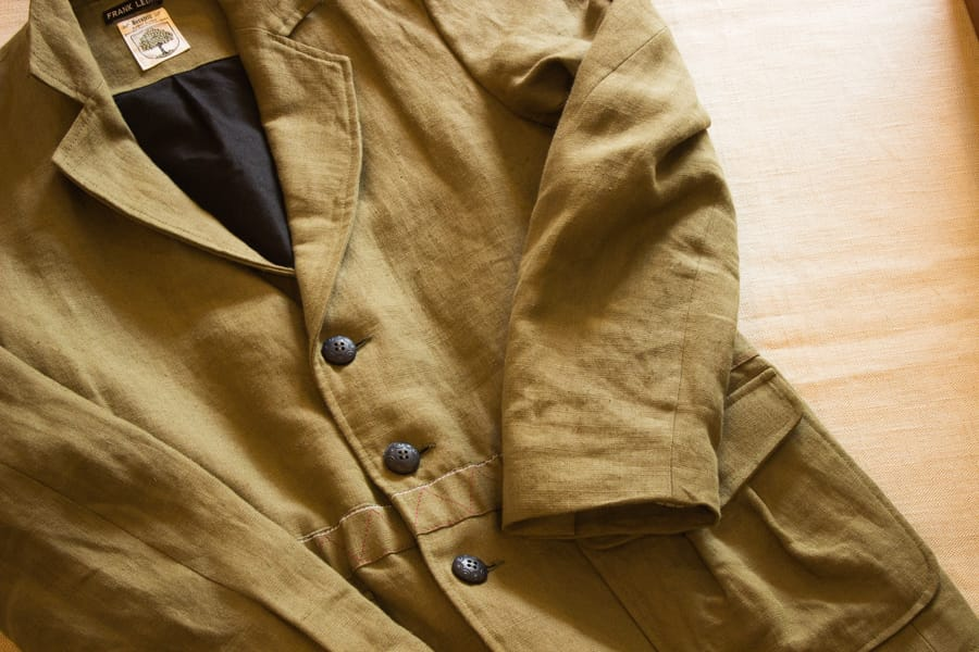 "FRANK LEDERにしか作れない素材感と独特の発色『FRANK LEDER』""VINTAGE LINEN JACKET""のご紹介"