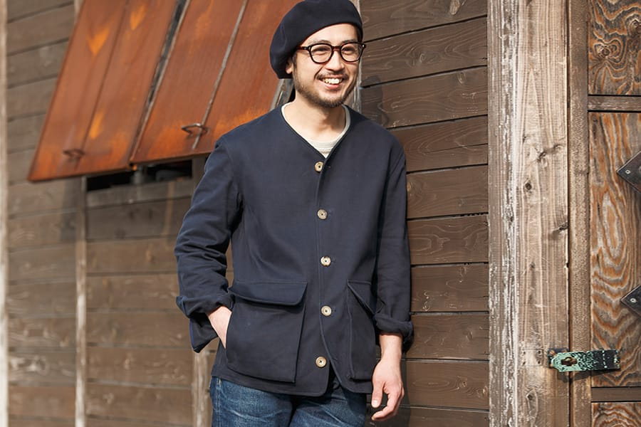 "非常に着心地がよく抜群の耐久性を誇る『S.E.H KELLY』""COLLAR LESS JACKET"""