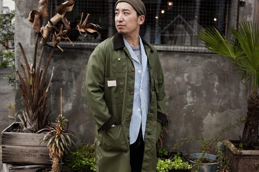 """【限定入荷】通年着ることのできる特殊加工を施した『BONCOURA』""""ショップコート"""""""