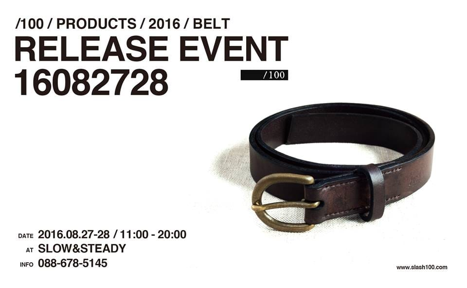 "『/100』RELEASE EVENT""16082728″ 開催のお知らせ"